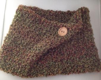 Cozy Cowl Crocheted In Herb Garden Photo Prop Scarf Shawl