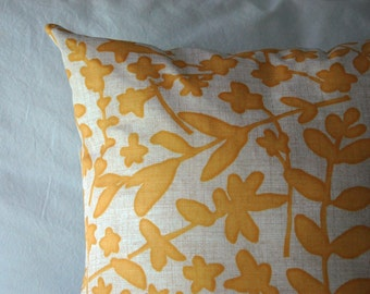 Fairfax Pillow in Yellow and Gray / modern throw pillow / minimalist pillow / mustard yellow pillow / window seat pillow / yellow bedding