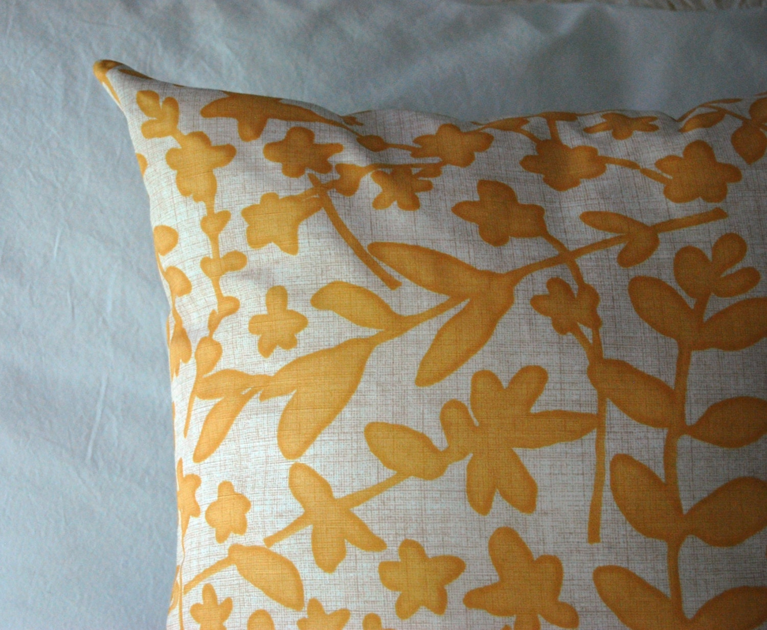 Yellow Decorative Pillows For Bed : Fairfax Pillow in Yellow and Gray / modern throw pillow