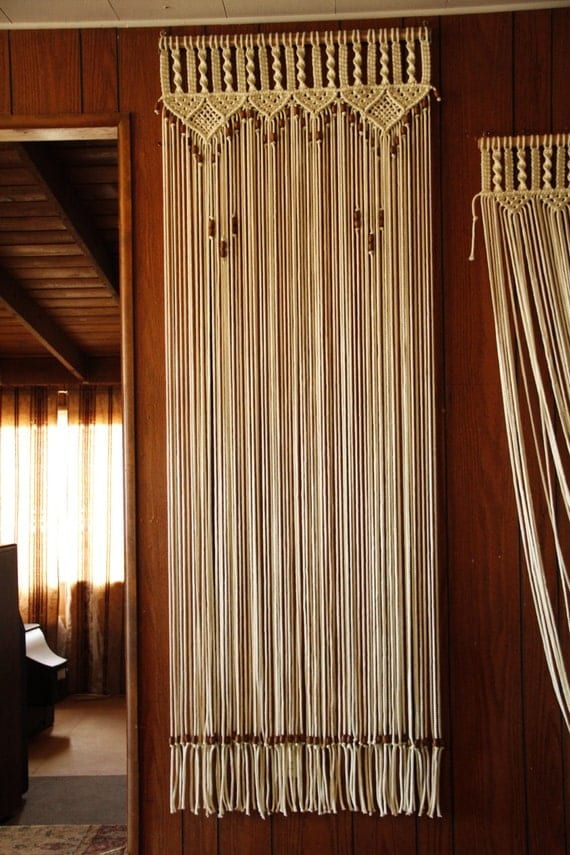 Door Curtain Macrame And Beaded For A Door