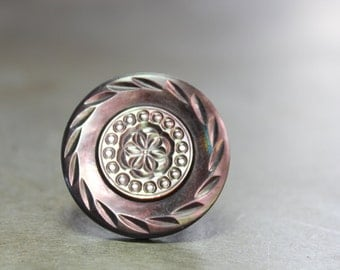 Vintage Shell Button Ring