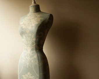 Display Mannequin Laura Ashley Fabric Mannequin Dressform Wedding Dress- Keri in Duck Egg