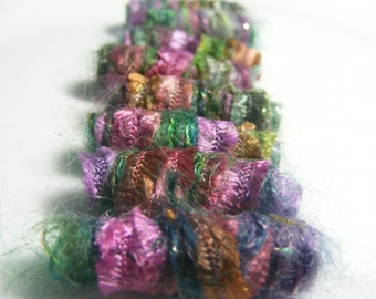 Fiber Bead Set  There is no time and certainly no age for textile beads. There is just beauty.