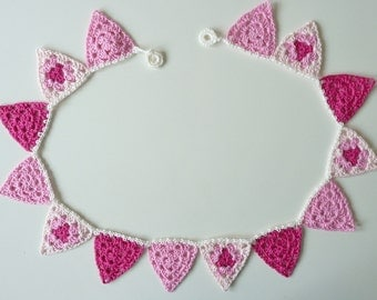 Bunting Garland Pink Variations 120 cm