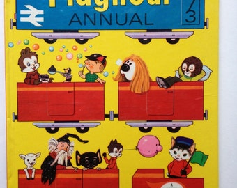 Playhour Annual 1973 Vintage Book From England Illustrations Stories Comics