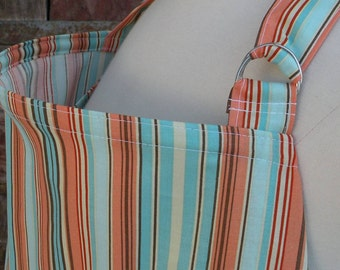 Nursing Cover-Blue and Orange Stripe-Free Shipping When Purchased With A Wrap