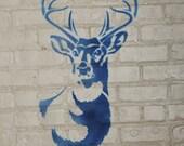 Stencil1 Large Antlered Deer stencil S1_01_52L