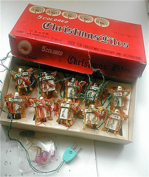 Vintage Chinese Lantern String Lights Festive Miniature Lights