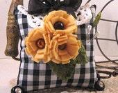 Gingham and Sunflowers - Pincushion