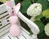 Pink Houndstooth Bits The Bunny Plush Rattle