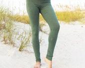Organic Simplicity Long Leggings - ( light hemp lycra ) - organic hemp leggings  :