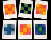 Set of 6 Quilt Square 9-Patch Fabric Cards