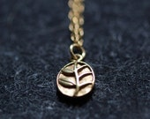 the memory - little gold leaf necklace by elephantine