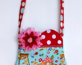 Woodland Critter Purse -Ready to ship