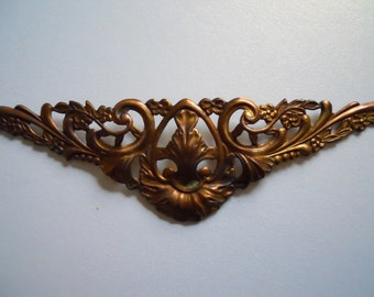 Large Vintage Ornate Brass Ox Centerpiece