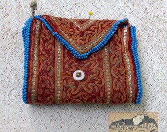 Vintage Embroidered Wallet or Pouch, Zazi, Afghanistan, Item 129