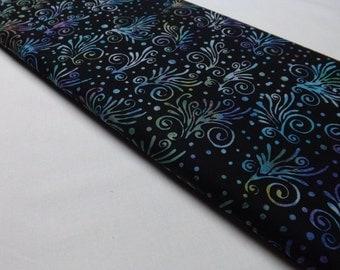 Fat Quarter Hoffman Batik F2007-162 Jewel Explosion Black Neon Burst of Color Festival Batiks Quilting Fabric