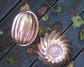Two Copper Colored Aluminum Molds - Kitchen Decor