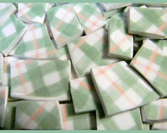 China Mosaic Tiles - SaGE GReEN and PinK - Plate Tiles