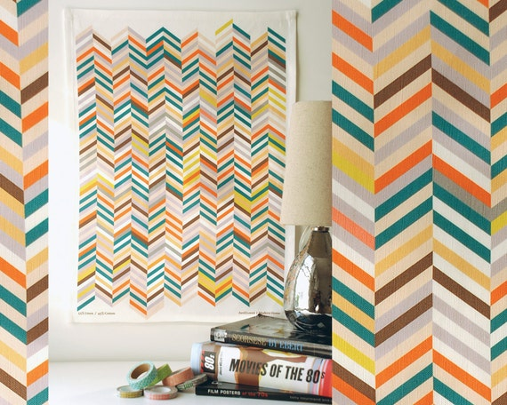 Herringbone Tea Towel - Great for designer gifts, cool mens gifts, and geometric kitchen decor.