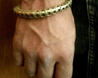Solid Brass-Snake Vertebrae-Bracelet / Free US Shipping