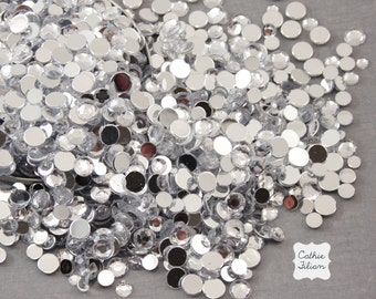 Rhinestones - 1 pound - crystal clear gems - weddings party favors crafts