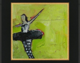 This Little Light  Abstract impressionist ballet acrylic  original painting