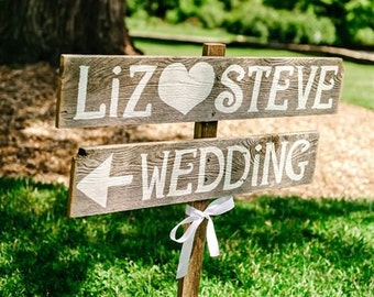 Rustic Wedding Signs, Rustic Wedding Sign, Reception Signs, Personalized Signage, Custom Wood Personalized Sign, Directional Wedding Sign