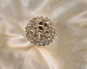 Crystal Cake Brooch Cake Accessories Silver Plating