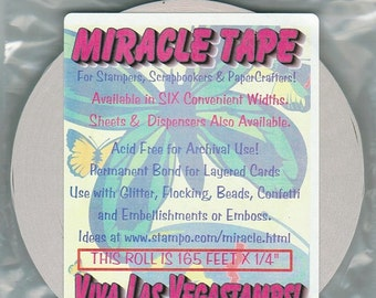 double sided tape Miracle tape craft  scrapbooking supplies rubber stamp  Miracle Tape   55 yards