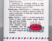 happy birthday card - definition from vintage dictionary