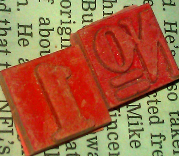 Vintage letterpress blocks