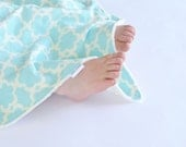 Baby Girl Security Blanket Blue Tarika Lovey with Minky for Toddler Baby Girls