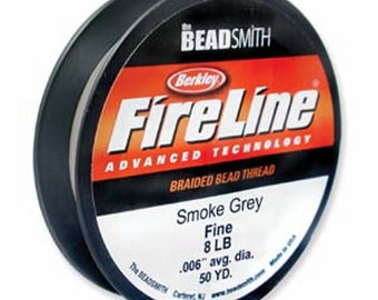 FIRELINE THREAD 50 Yards of 8 LB Smoke