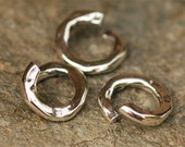 Six Jump Ring Links in Sterling Silver, Open Jump Rings, AD-268