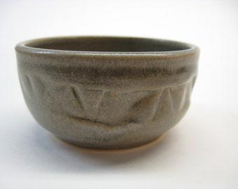 Small Bowl - Gray Ceramic Bowl - Prep Bowl - Salt Dish