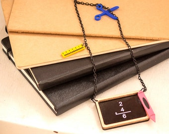 Back to School Jewelry,Back to School Necklace,Lasercut Acrylic