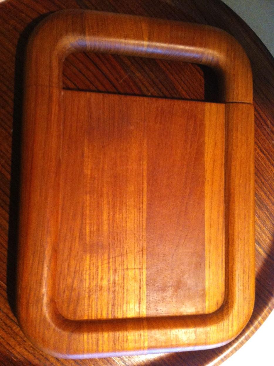Kalmar Designs Mid Century Danish Modern Teak Wood Cheese