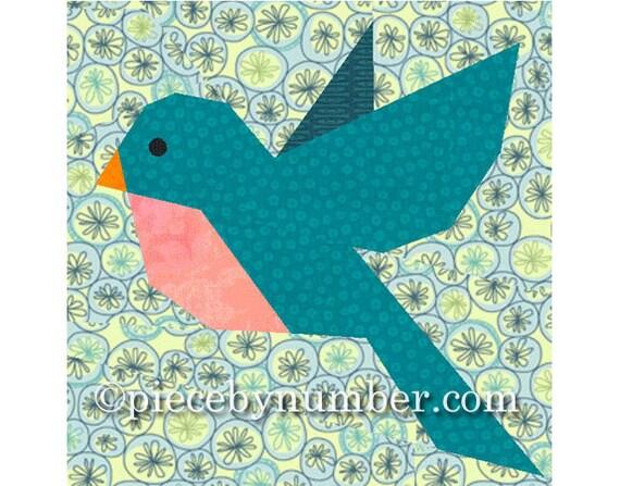 Bluebird Quilt Block Pattern Bird Quilt Patterns Animal