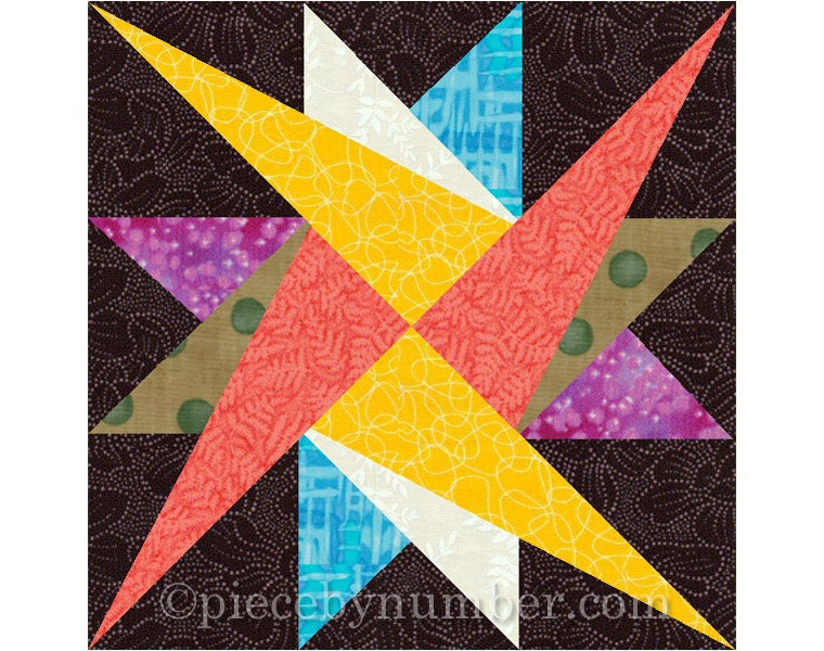 Leysin Star Quilt Block Pattern Paper Pieced Quilt Patterns