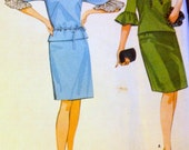 Vintage 60's McCall's 8183 Misses' Two Piece Dress Ruffled Sleeves Size 16 Bust 36 UNCUT Complete