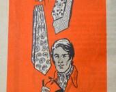 Vintage Sewing Pattern Printed Pattern 9384 Men's Jiffy Ties  Complete Uncut