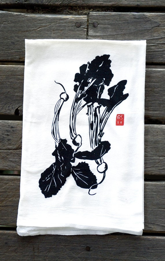Gift pack of 4 Asian Vegetable Dish Towels