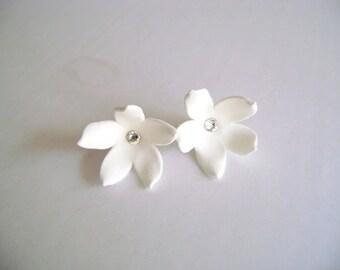 Stephanotis Wedding Earrings - Bridal/Bridesmaid Earrings