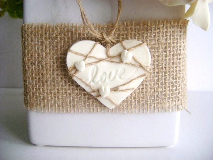 Rustic Country Burlap Favor Tags Magnets Wedding Favor Tags