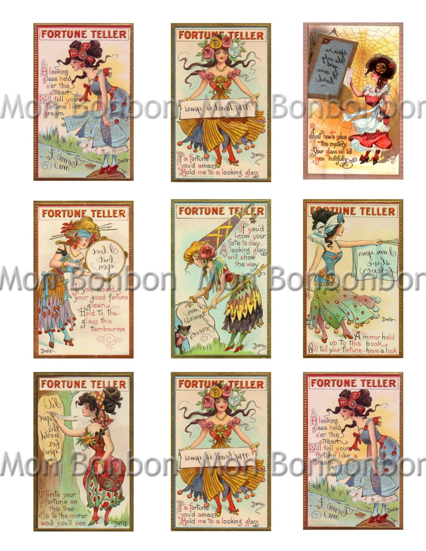 Vintage Fortune Teller Gypsy Cards Digital File INSTANT