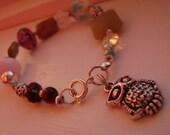 Charm Gemstone and Swarovski Crystal Bracelet