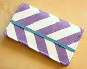 Chevron Cell Phone Wallet - Chevron Print - Purple and Turquoise Chevron - Smart Phone - Iphone Wallet