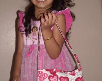 Hug me Hearts toddler purse
