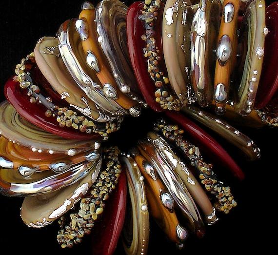 Beads,Glass Beads,Lampwork Beads,Handmade Lampwork Beads,Glass Discs,Glass Bead,Debbie Sanders,Beads for Jewelry,Jewelry Supplies, SRA Beads